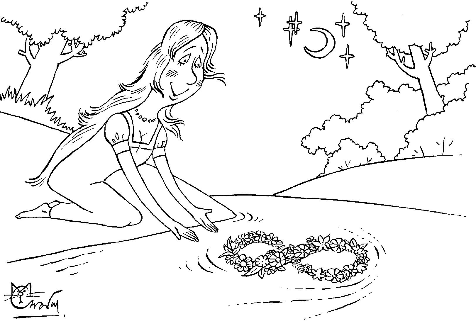 Праздник ивана купала рисунок карандашом